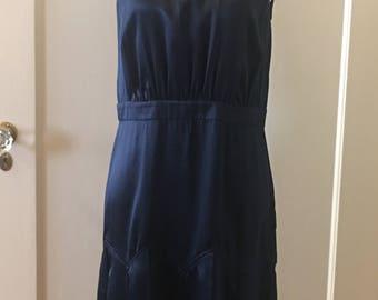 Vera Wang Lavender Label Navy Silk Dress
