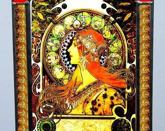 Alphonse Mucha, Zodiac, Stained glass, Vacation until 18. September
