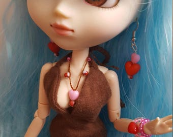 Jewellery set for Pullip doll - Candy hearts