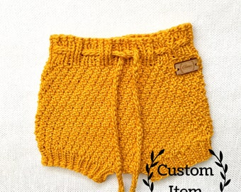Dream Shorties / Cotton Knit Baby Bloomers / Knit Diaper Cover / Baby Girl Bloomers / Baby Boy Diaper Cover