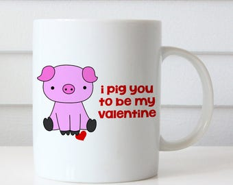 Großartig Funny Valentine Mug Gift For Girlfriend Wife Her Valentines Day Gifts  Coffee Mugs I Pig You