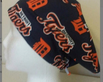 Detroit Tigers MLB Baseball Euro / Pixie Style Surgical Scrub Hat