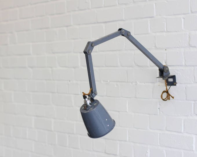 Wall Mounted Industrial Task Lamp By Memlite Circa 1960s
