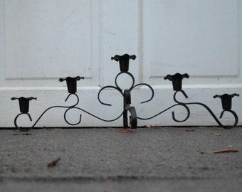 Mid Cenury Wrought Iron Candlebra - Candle Holder
