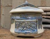 Handmade Stonware crock/canister