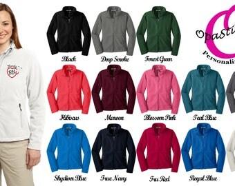 Personalized Nursing jacket,Fleece, Heart Stethoscope Monogram, Nurse Gift, Embroidered Nurse Jacket, LPN, RN