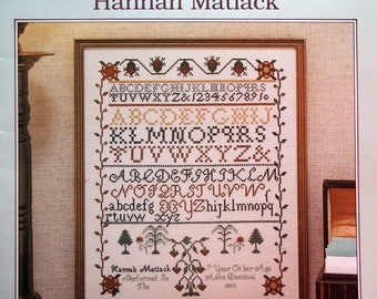 Hannah Matlack Leaflet 3 The Chester County Collection Vintage Cross Stitch Pattern Leaflet 1987