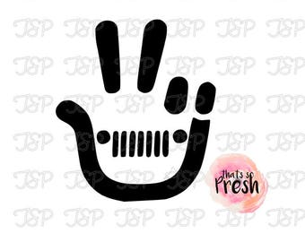 Jeep Decal, Jeep Girl, Jeep Peace Sign Decal, Jeep Sticker, Jeep Yeti Decal