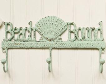Wall Hooks, Coat Hooks, Towel Hooks, Beach Decor, Beach house Decor, Nautical Decor, Towel Hooks, Cast Iron Hooks, Coastal Decor, Beach Hook