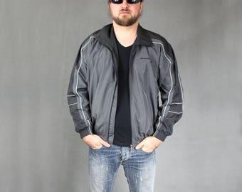 UNISEX Track Jacket, UMBRO Vintage 90s Athletic Sportswear Shell Jacket, 90s Zip Up Tracksuit Bomber Windbreaker, Gray Sweatshirt, Sz S to M