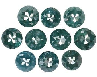 1.29 Ct Natural Loose Diamond Round Rose Cut Blue Color 10 Pcs K3328