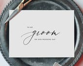 To My Groom On Our Wedding Day, I Can't Wait To Marry You, Wedding Card to Groom, Wedding Day Card, Wedding Cards, Future Husband Card, K6