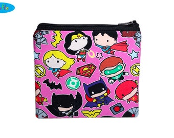 NEW! DC Comics Bag | Justice League Coin Purse | Wonder Woman Change Wallet