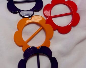large plastic flower sliders buckles for 40mm webbing new UK seller