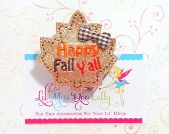 Fall Badge Reel-Happy Fall Yall ID Badge-Glitter ID Badge-Fall Badge Reel-Retractable ID Badge Holder-Badge Reel Clip-Nurse Badge (Set of 1)