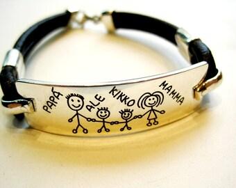 Family Silver Bracelet