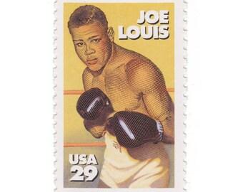 10 Unused Vintage Postage Stamps - 1993 29c Joe Louis - Item No. 2766