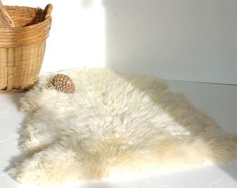 Peau de mouton véritable, peau de mouton naturelle, peau de bête, french vintage
