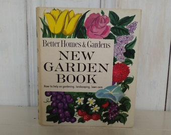 Better Homes & Gardens New Garden Book/1964 Revised Edition/Tabs Ringed Binder/Hardback/Color Photos/520 pages/lindafrenchgallery