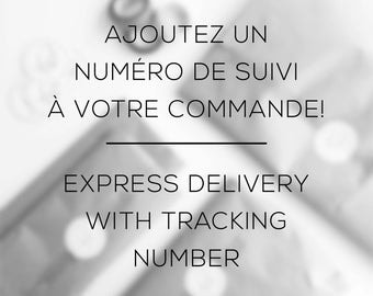 Express delivery with tracking number (Canada only)