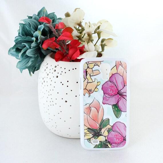 Magnolia Samsung Galaxy S5 Case – Floral Samsung Galaxy S5 Case – Pink, Purple, and Blue Flower Samsung Galaxy S5 Case -Samsung Galaxy Case
