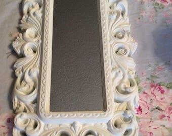 Cottage White  Scrollg Design Accent Mirror