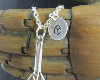 Sterling silver whisk necklace, chefs whisk, bakers whisk, personalized whisk necklace, bakers necklace, culinary, foodie gift, baker