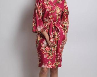 Burgundy robe, cranberry theme, plum color robe, Japan kimono robe, cranberry bridesmaid, plum dress, bridesmaid robes, bridesmaid robe