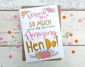Thank You for an Amazing Hen Do! - quirky hand drawn greeting card