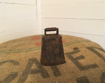 Primitive Handmade Rustic Bell with Clapper, Goat Bell, Farmhouse Bell, Cow Bell, Sheep Bell