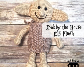 Harry Potter Dobby Doll - Dobby the House Elf  Crochet Plush - Dobby Amigurumi - gifts for geeks - gifts for him - gifts for her - gifts und