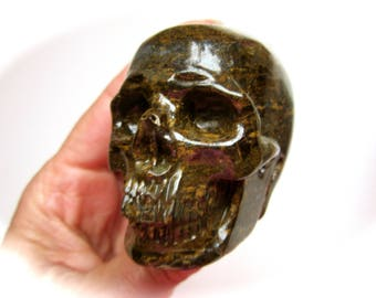 Bronzite Carved Crystal Skull 64mm 225g