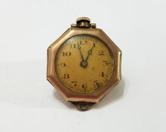 Vintage, Welta, Pocket Watch, Pendant, Wadsworth, Gold Filled, Case, Steampunk, Altered Art, Assemblage, Jewelry, Beading, Supply