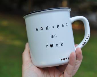 Engaged af engagement gift engaged af shirt bachelorette party engagement party engaged af tank bride gift engagement wedding mug