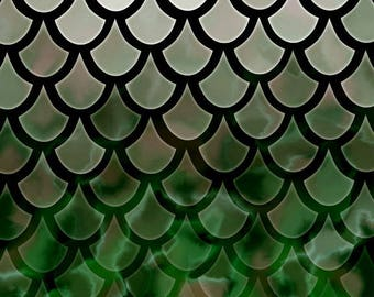 DIGITAL DOWNLOAD - Original abstract scalloped painting available for digital download - Black, green, gray, & white - high resolution jpg