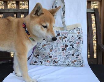 Adopt, Rescue, Love Tote Bags