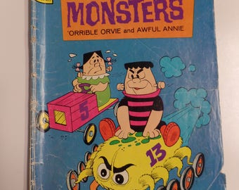 Gold Key Comics The Little Monsters #26 September 1974 Vintage Comic Book G+