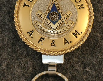IN STOCK UNLESS Personalized Custom handcrafted Masonic key chain, Texas, Past Master