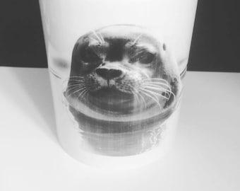 Seal Mug- Ocean Life, Zoo Animal, Cute, Lovable, Swimming,Coffee, Tea, Aquatic