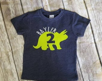 Dinosaur Birthday Shirt , Dinosaur Party Shirt , Toddler Boys Birthday Shirts ,  Personalized Boys Dinosaur Shirt, Dino Birthday Shirt