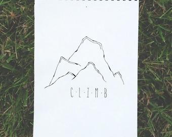 CLIMB mountain print