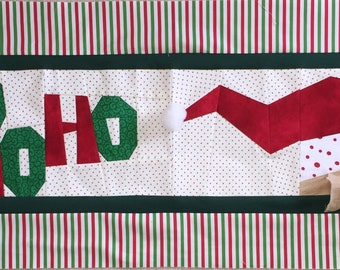 Jolly Old St. Nick Paper Pieced Table Runner Pattern in PDF