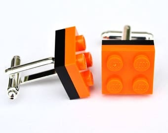 LEGO ® Plate Cufflinks - Orange and Black