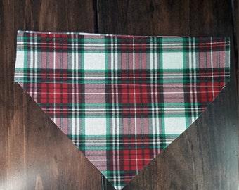 Plaid Dog Bandana | Over the Collar | Christmas Bandana