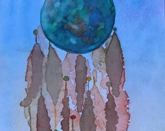 Dream World - Original Watercolor