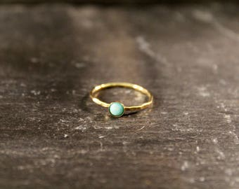 Amazonite Gemsone Ring ONE RING (Gold Rose Gold Sterling Silver Mint Aqua Green Gemstone Stacking Ring Gifts Under 50)