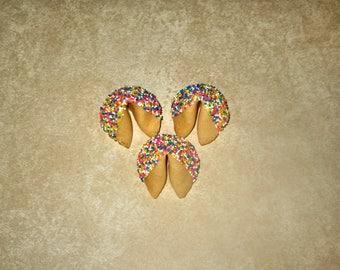 308 CUSTOM Rainbow Sprinkled Fortune Cookies for cplatania13