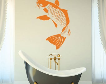Koi Fish Wall Decal, Sticker, Mural, Vinyl Wall Art