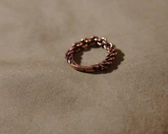Bronze Viking Braided ring
