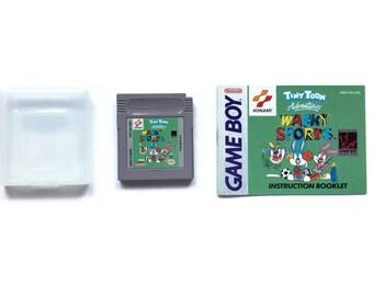 1994 TINY TOON Wacky Sports! Nintendo Game Boy Video Game & Instruction Manual! Gb Gbc Gba Vintage Retro Rare Gameboy Great Gift